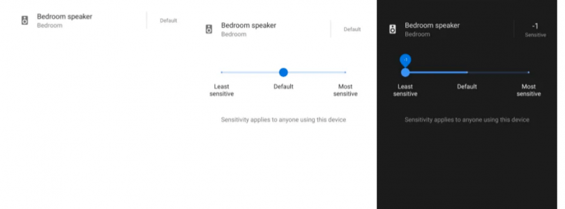 Ajuste de sensibilidad en Google Assistant