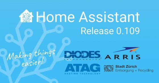 Home Assistant Core se actualiza a la versión 0.109