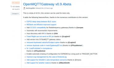 openmqttgateway 0.9.4beta