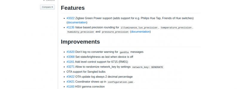 Zigbee2mqtt versión 1.13.0