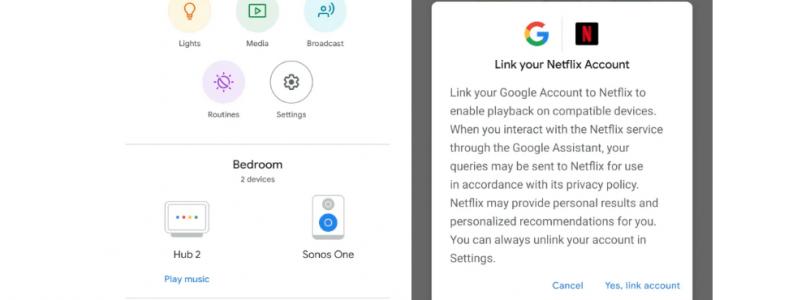 Google Home preguntará vincular nuestra cuenta netflix