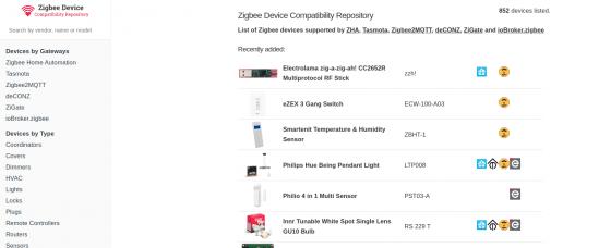 ¿Quieres saber si tu dispositivo Zigbee está soportado? Aquí tienes una lista con diferentes sistemas