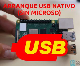 portada del tutorial del arranque de la Raspberry Pi4 desde USB sin microSD