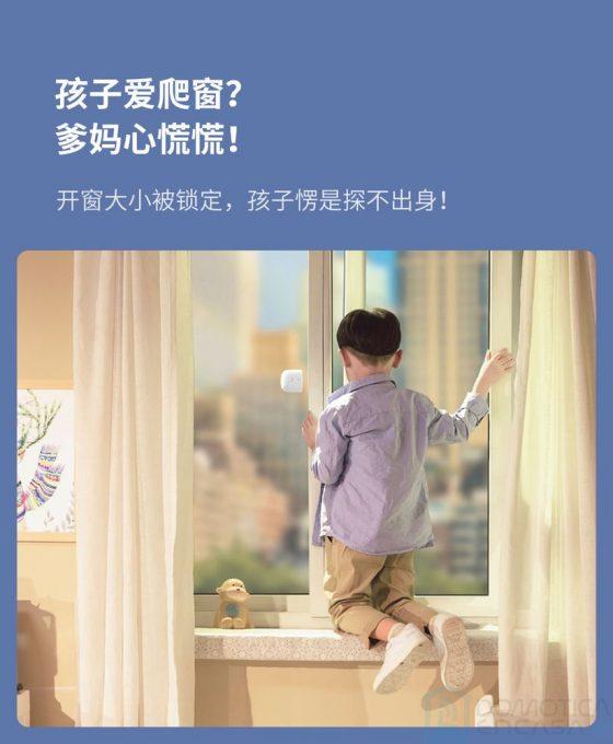 sensor y bloqueo de ventanas correderas de Xiaomi