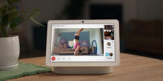 Nest Hub Max y otros Smart Displays comienzan a soportar llamadas de grupo de Google Duo y Google Meet