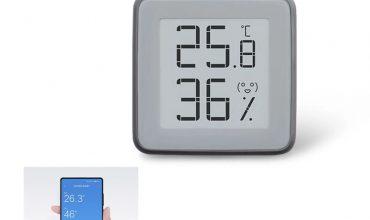 termohigrómetro con pantalla de tinta electrónica y bluetooth