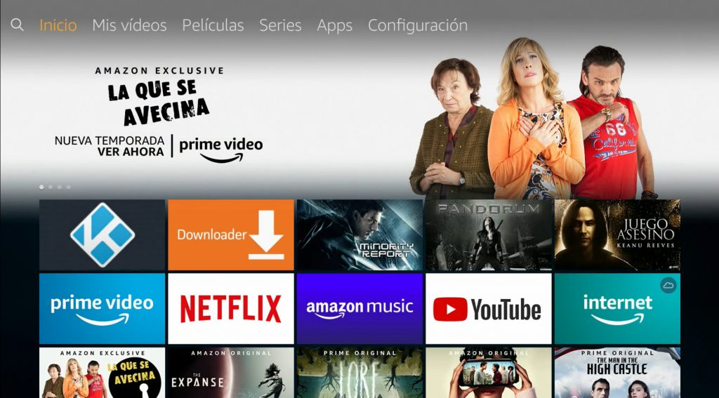 Interfaz de Fire TV