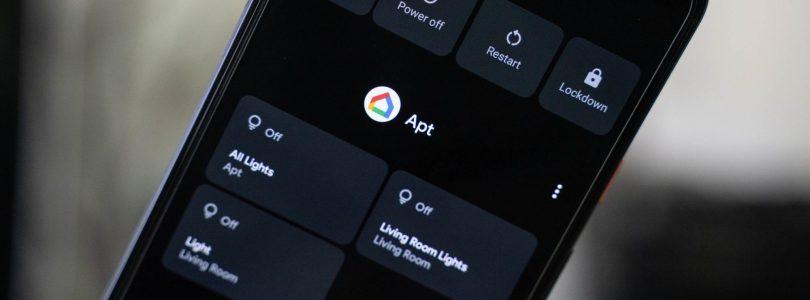 Menú power de Google Home en Android 11
