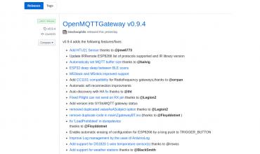 openmqttgateway versión 0.9.4