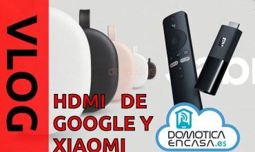 portada de los dispositivos hdmi de Xiaomi y google