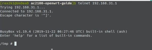 telnet al xiaomi mi router ac2100 para flashear openwrt