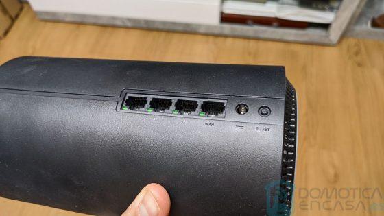 Bocas de red del router