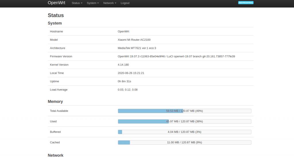 OpenWRT en el Xiaomi Mi Router AC2100