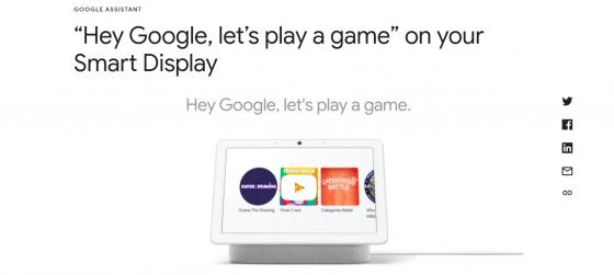 Google actualiza sus Smart Displays con juegos específicos