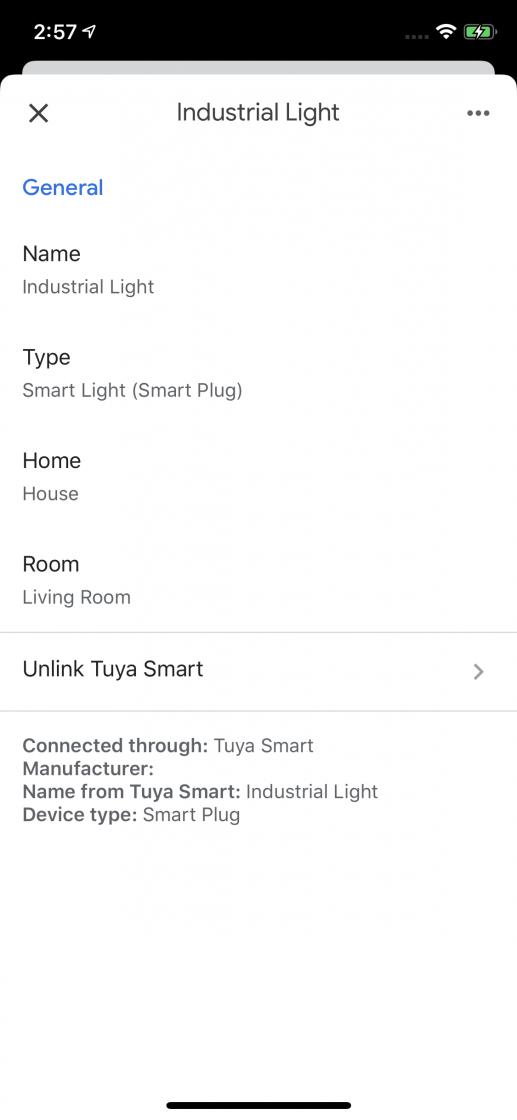 especificar lo que hay conectado a un enchufe inteligente