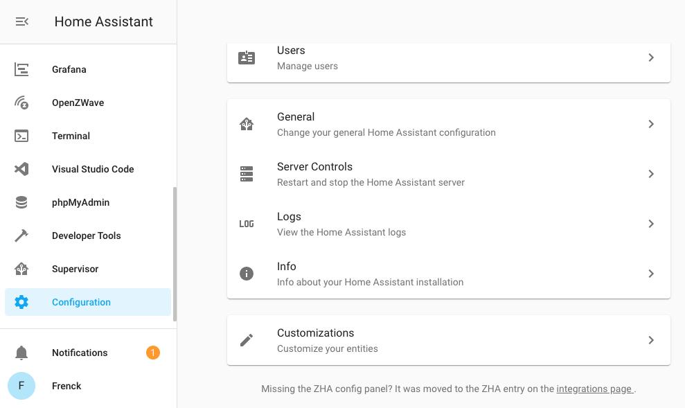 Nueva ubicación de los logs en Home Assistant 0.112