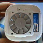 Vista superior sin tapa del repelente de mosquitos Xiaomi