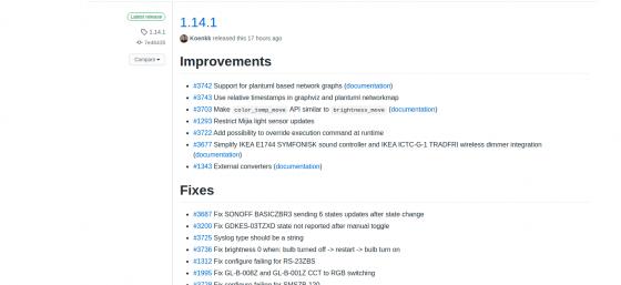 Zigbee2mqtt se actualiza a la versión 1.14.1
