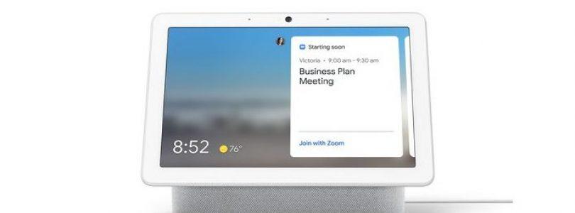 Los Smart Display de Google tendrán soporte con Zoom