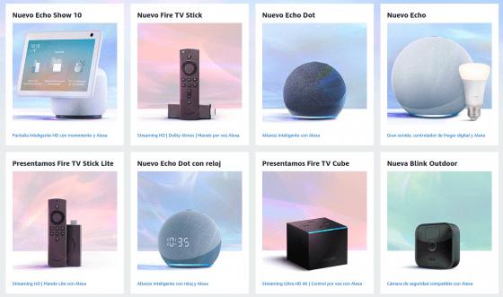 Nuevos dispositivos de Amazon presentados
