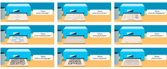 Alexa permite la impresión de crucigramas, recetas y otros documentos