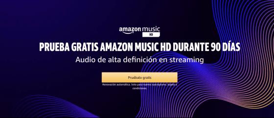 ¿Te gusta la música de alta definición? Prueba 90 días Amazon Music HD