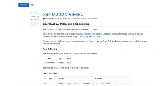 Comienza la fase final para openHAB 3.0