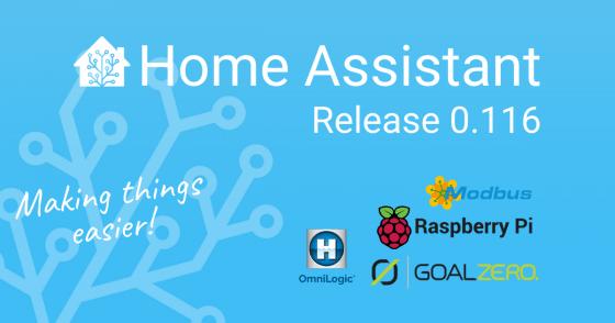 Home Assistant Core llega a la versión 0.116