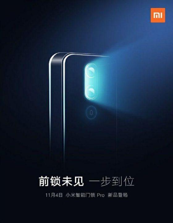 Xiaomi anuncia en China un nuevo Smart Door Lock Pro para el 4 de Noviembre