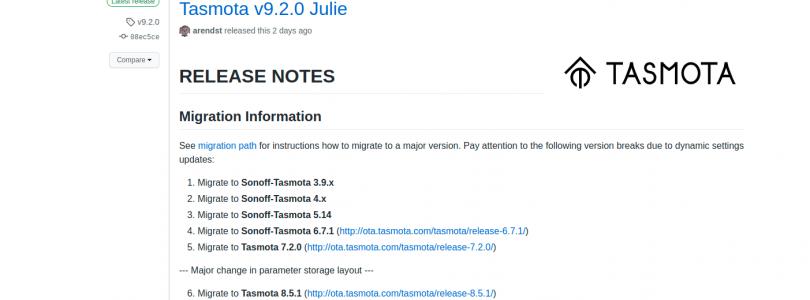 Tasmota 9.2.0