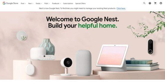 Nest.com redirige a la tienda de Google por defecto
