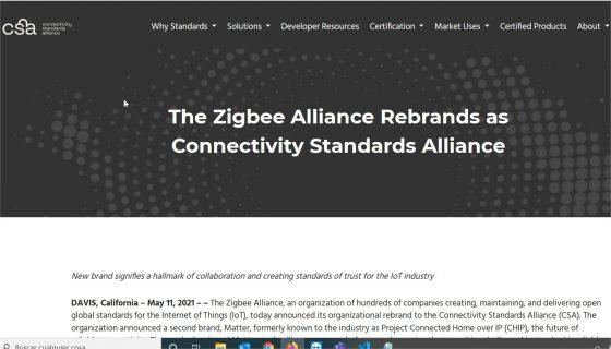 La Zigbee Alliance cambia de nombre a Connectivity Standards Alliance