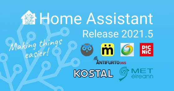 Home Assistant se actualiza a la versión 2021.5