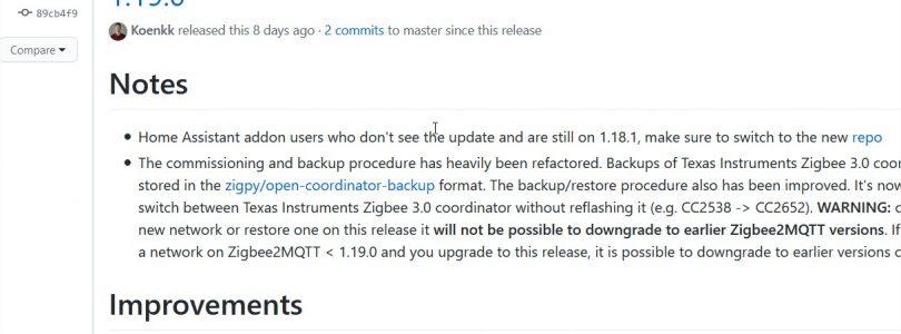 zigbee2mqrtt 1.19.0