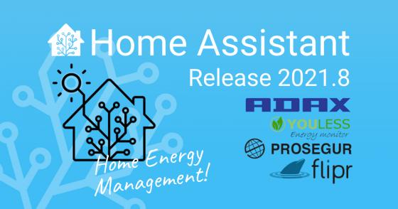 Home Assistant llega a la versión 2021.8 con control de energía