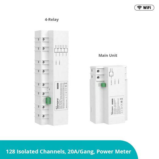 Controla el consumo de hasta 128 canales con Sonoff Smart Stackable Power Meter