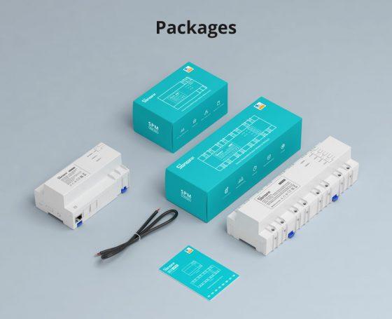 Empaquetado de Sonoff Smart Stackable Power Meter