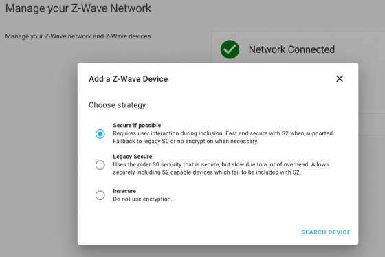 Seguridad en Z-Wave JS